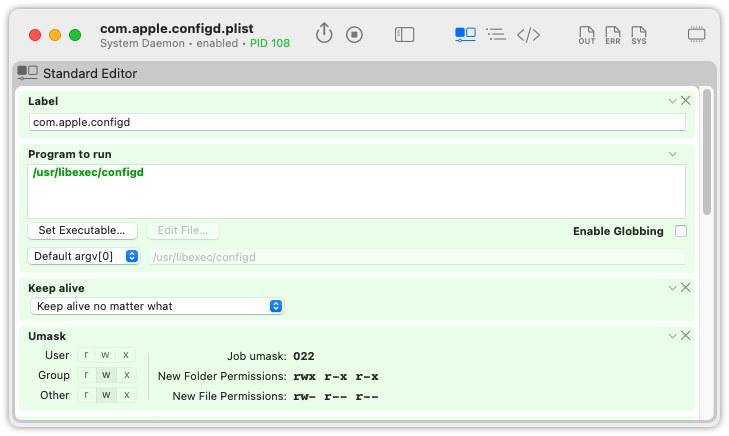 LaunchControl: The launchd GUI